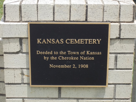 Kansas Cemetery, Delaware County, OK