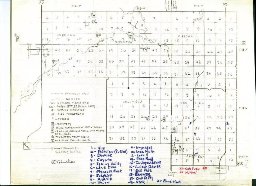 Kingfisher County Oklahoma Map.Kingfisher County Oklahoma Cemetery Map